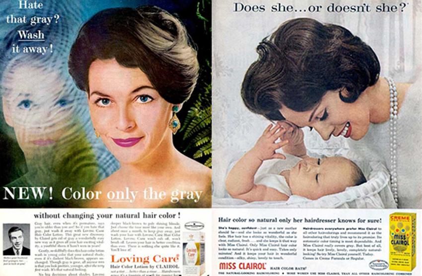 реклама первой краски для волос