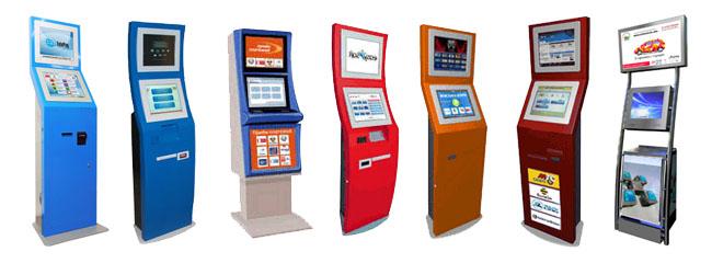 Различные варианты дизайна мобильных терминалов с двумя экранами под рекламу